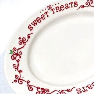NWT Christmas Santa Cookie/Treats Plate